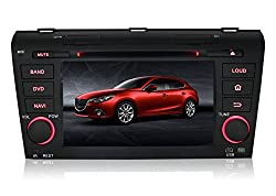 See Pumpkin 7 inch Double Din In Dash HD Touch Screen Car DVD Player GPS Navigation Stereo For Mazda 3 2004-2009 Support Navi/Bluetooth/SD/USB/FM/AM Radio/3G/DVR/1080P Details
