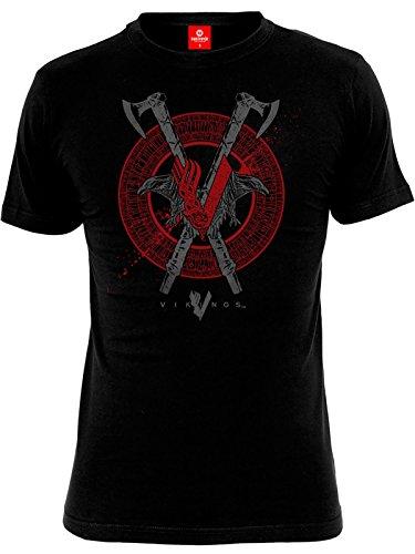 Vikings Axe & Raven T-Shirt nero M