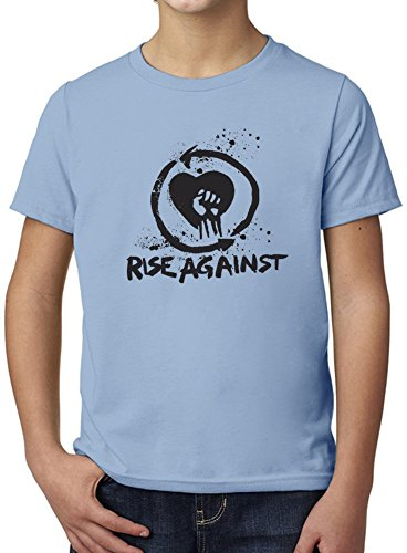 Rise Against Punk Rock Band Ultimate Youth Fashion T-Shirt by True Fans Apparel - 100% Organic, Hypoallergenic Cotton- Casual Wear- Unisex Design - Soft Material 9-11 years