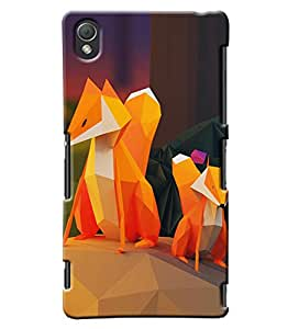 Clarks Cartoon Wolf Hard Plastic Printed Back Cover/Case For Sony Xperia Z3