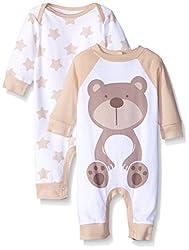 Gerber Unisex-Baby Newborn 2 Pack Coverall, Brown Bear, 6-9 Months
