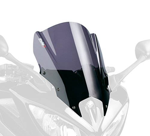 5572F Racing Puig schermo per Yamaha FZ8/Fazer 2010-2012 Fazer8 2013-2014, colore: grigio scuro, taglia: M