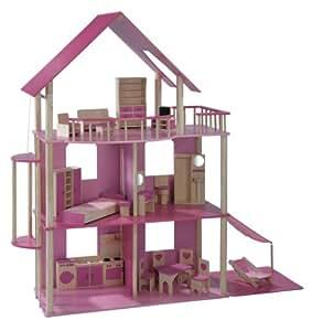 xxl puppenhaus f r ankleidepuppen z b barbie. Black Bedroom Furniture Sets. Home Design Ideas