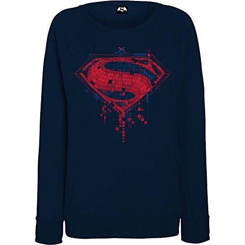 DC Comics Donna Batman v Superman Geo Logo Felpa X-Large Marina Militare