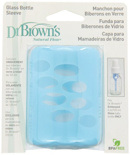 Dr. Brown's Glass Bottle Sleeve, Blue, 4 Ounce