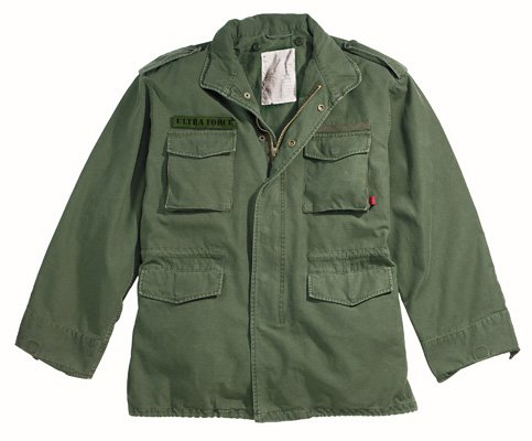 Description : Authentic Military Vintage M-65 Field Jacket, Olive, XL