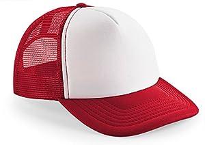 Kinder Jungen Mädchen 8 - 14 Jahre - Snapback Trucker rot Sonnenschutz Hut Kappe Mütze