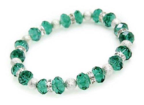 Elizabeth Blue Zircon Single Strand Tiffany Crystal Bracelet