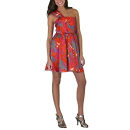 Go International® One Shoulder Print Dress - Shattered Glass : Target