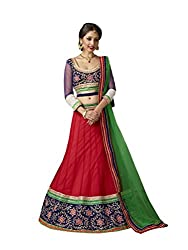 Red Net And Georgette Lehenga Choli