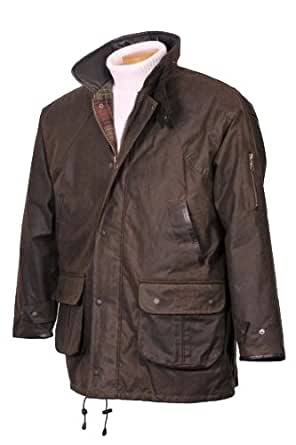 Hunter Outdoor Winchester Deluxe Mens Wax Jacket Inc Free Tin of Wax Proofing - Small - Antique Brown