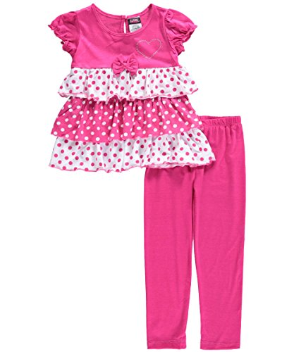 "Angel Face Little Girls' Toddler ""Dotted Tiers"" 2-Piece Outfit"