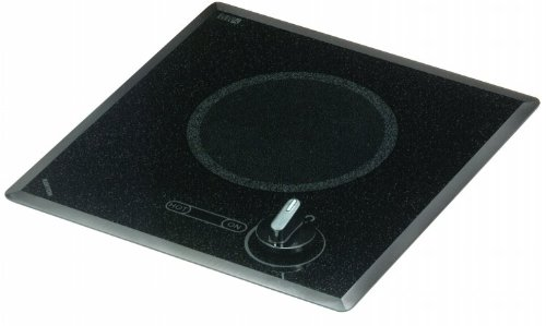 Kenyon B41518 6-1/2-Inch Mediterranean Single Burner Cooktop With Analog Control Ul, 240-Volt, Black