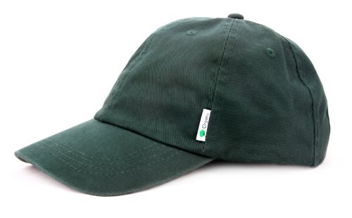 12 Count Wholesale Bulk 100% Organic Cotton Baseball Hat In Dark Green front-849543