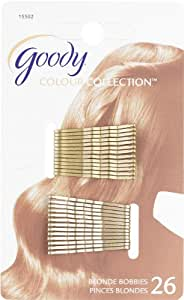 Goody Colour Collection Bobby Pin Small Metallic Blonde, 26 Count (Pack of 3)