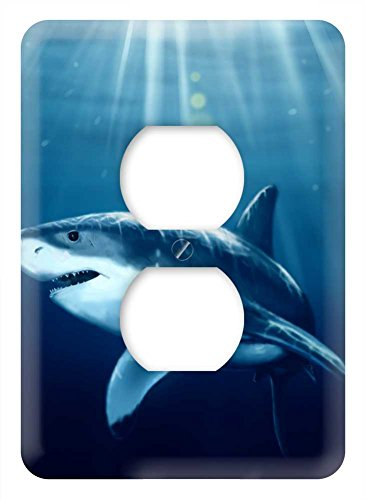 WaPlate - Shark - Switch Plate Outlet Cover (Shark Light Switch compare prices)