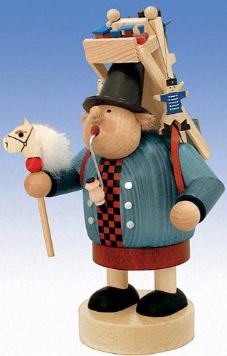 KWO Olbernhau 21503 - Figura para quemar incienso (23 cm), diseño de juguetero