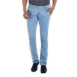 Club Vintage Mens Slim Fit Jeans(CV10JNSFXXSB28_Sky Blue_28)