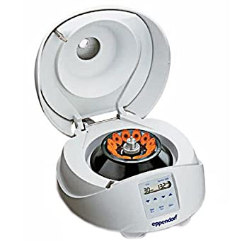 Eppendorf 022620100 MiniSpin Personal Microcentrifuge with 12-Place Rotor for 1.5/2.0mL Tubes and Microtainers, 800 to 13400 RPM Variable Speed, 120V/60Hz