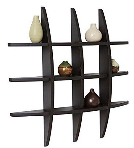 Shelving solution cross display wall shelf black home for Wall shelves and ledges
