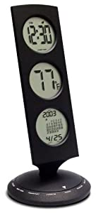 Bedol Three Tier World Time Clock/13 time zones/Black