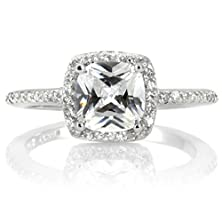 buy Cz Halo Cushion Cut Engagement Ring