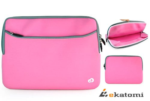 Wide-ranging Sleeve Netbook Bag for Samsung 11.6-inch Chromebook - Pink. Tip Ekatomi Screen Cleaner Sticker