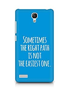 AMEZ the right path is not easy Back Cover For Xiaomi Redmi Note 4G