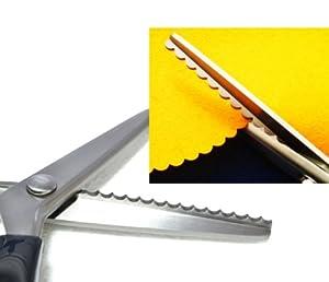 SG 9 pouces grands ciseaux crantés Ciseaux de motif Ciseaux à arc acier inoxydable des échantillons de tissu de ciseaux ciseaux à dentelle ciseaux ondulés ciseaux de tissu Ciseaux de tissu dents ciseaux couper une triangulaire ciseaux de bricolage couper spécial ciseaux de couture