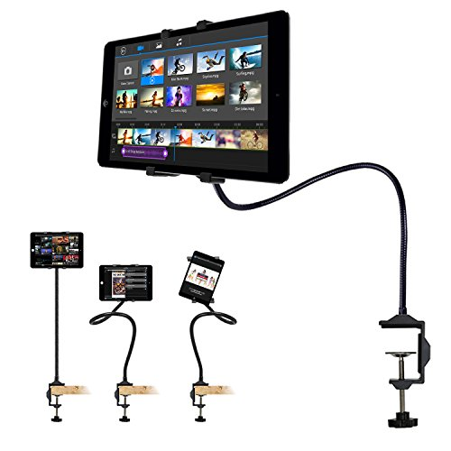 Costech Universal Fashion Flexible Gooseneck Long Arm Tablet Stand 360-degree Rotating Clip-on Mount for Ipad Mini, Ipad Air, Samsung Tablet (Black) (Ipad Clip compare prices)