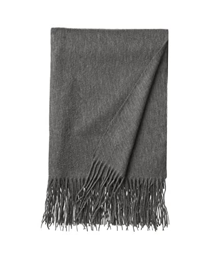 a & R Cashmere Waterweave Cashmere Throw, Heather Grey