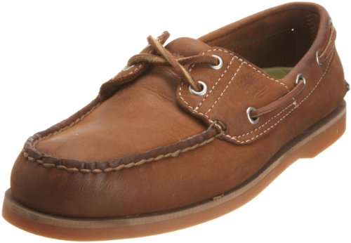 Timberland Men's Classic 2 Eye Boat Leather Nubuck Shoe Brown 71512 8 UK