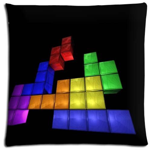"18x18 18""x18"" 45x45cm Body pillow covers cases Cotton - Polyester pre-shrunk Collection Tetris"
