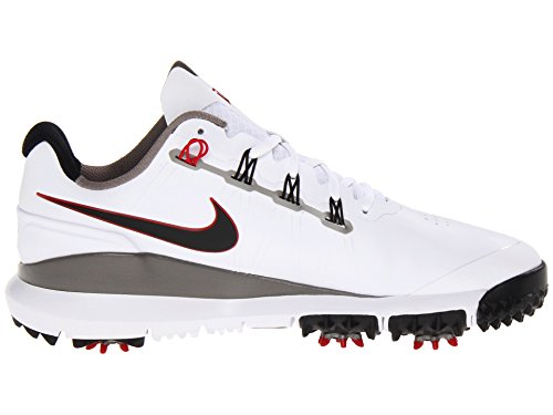 Nike Golf Men's Nike TW '14 Golf Shoe,White/Metallic Pewter/Varsity Red/Metallic Dark Grey,10 M US