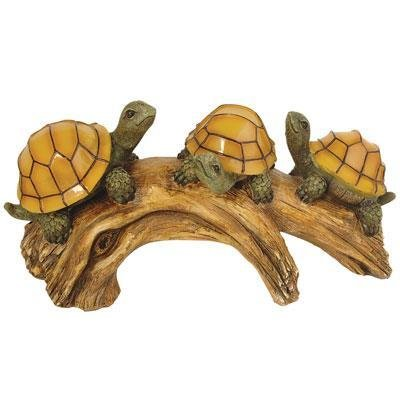 Coleman Cable Turtles On A Log Solar Lights