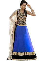 Fabron blue designer embroidred lehenga for woman