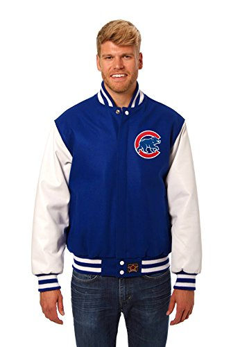 Chicago Cubs Wool & Leather Varsity Jacket (X-Large)