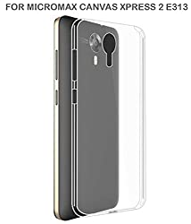 Exclusive Soft Silicone TPU Jelly Transparent Crystal Clear Case Soft Back Case Cover For Micromax Canvas Xpress 2 E 313/ Xpress2 E313