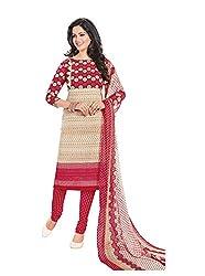 RK Fashion Womens Chiffon Un-Stitched Salwar Suit Dupatta Material ( Rajguru-Rimzim-9033-Pink-Free Size )