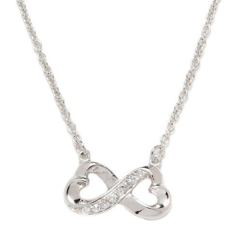 Silver Cz Infinity Necklace
