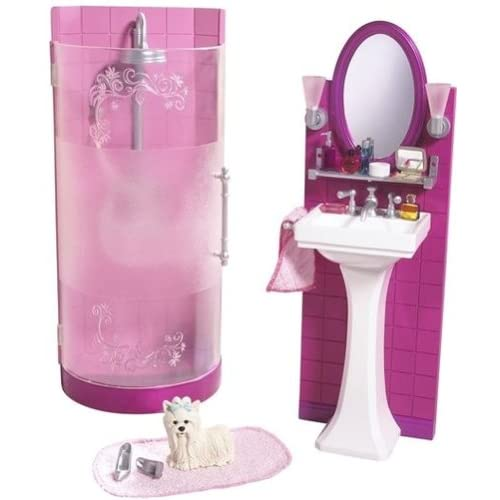 Amazon.com: Barbie Shower & Vanity Bathroom Playset