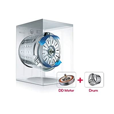 LG FH496TDL24 Fully-automatic Front-loading Washing Machine (8 Kg, Luxury Silver)