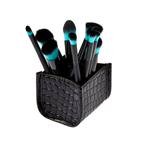 Pixnor Modello del coccodrillo trucco spazzola deposito titolare Box caso Organizzatore (nero)