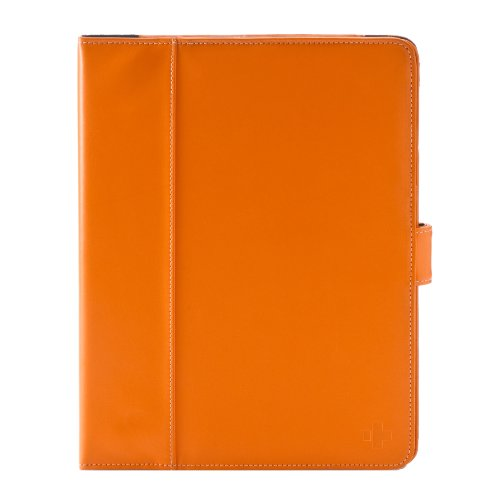 Simplism Japan Leather Flip Note Case for iPad 2 - Orange (TR-LFNCIPD2-OR/EN)