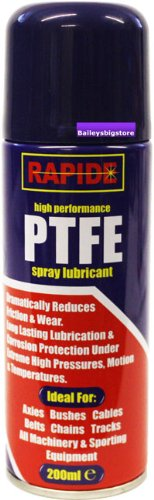 PTFE Lubricant Oil Spray Chains Gears Locks Bikes 200ml