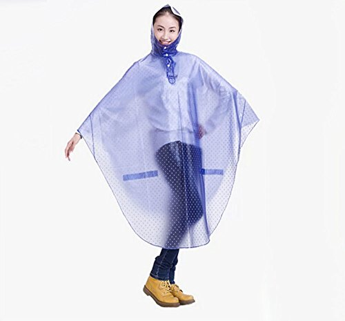 Bike Bicycle Cycling Cycle Waterproof Rain Coat Raincoat Cape Poncho 7 Colors Star Blue front-459556