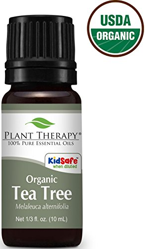 USDA Certified Organic Tea Tree (Melaleuca) Essential Oil. 10 ml (1/3 oz). 100% Pure, Undiluted, Therapeutic Grade.