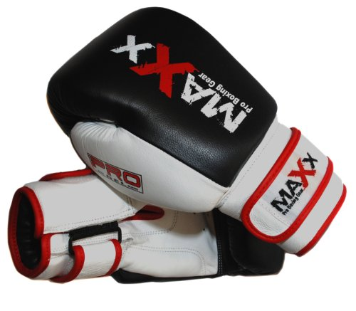 Pro MAX Leather Gel Boxing Gloves Fight , Punch