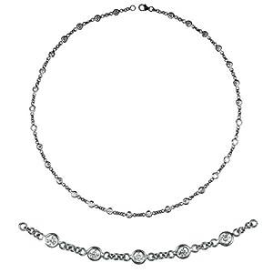 18k White 2.6mm Diamonds By The Inch Bracelet - JewelryWeb