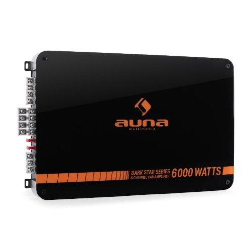 Auna-Auna-Dark-Star-6000-Autoendstufe-600-Watt-RMS-Endstufen-Verstrker-fr-Auto-6-5-4-3-Kanal-Betrieb-6000W-Tiefpassfilter-LED-Beleuchtung-orange-schwarz
